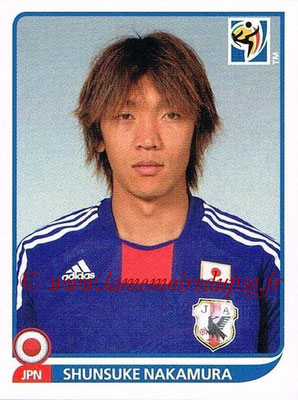 2010 - Panini FIFA World Cup South Africa Stickers - N° 388 - Shunsuke NAKAMURA (Japon)