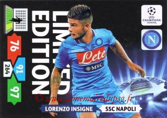2013-14 - Adrenalyn XL champions League N° LE39 - Lorenzo INSIGNE (SSC Napoli) (Limited edition)