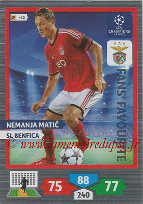 2013-14 - Adrenalyn XL champions League N° 297 - Nemanja MATIC (SL Benfica) (Fans' Favourite)