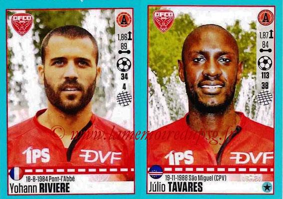2016-17 - Panini Ligue 1 Stickers - N° 210 + 211 - Yohann RIVIERE + Julio TAVARES (Dijon)