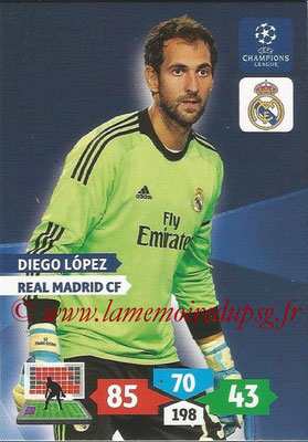 2013-14 - Adrenalyn XL champions League N° 235 - Diego LOPEZ (Real Madrid CF)