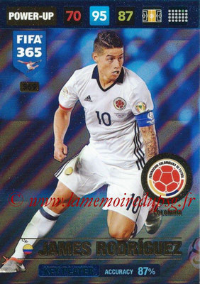 2016-17 - Panini Adrenalyn XL FIFA 365 - N° 369 - James RODRIGUEZ (Colombie) (Key Player)