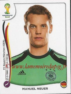 2014 - Panini FIFA World Cup Brazil Stickers - N° 490 - Manuel NEUER (Allemagne)