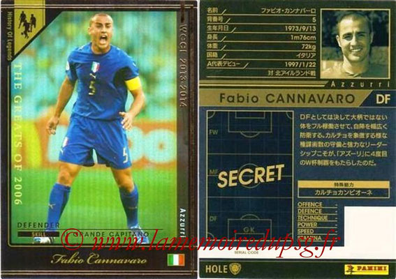 2013-14 - WCCF - N° HOLE3 - Fabio CANNAVARO (Italie) (History of Legends)