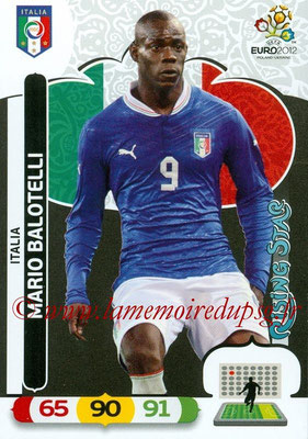 Panini Euro 2012 Cards Adrenalyn XL - N° 132 - Mario BALOTELLI (Italie) (Rising Star)