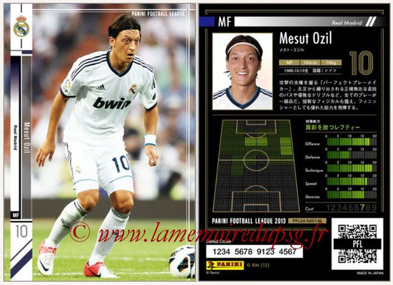 Panini Football League 2013 - PFL04 - N° 045 - Mesut OZIL (Real Madrid)