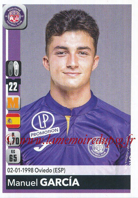 2018-19 - Panini Ligue 1 Stickers - N° 485 - Manuel GARCIA (Toulouse)