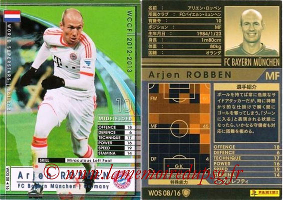 2012-13 - WCCF - N° WOS08 - Arjen ROBBEN (FC Bayern Munich) (World Superstar)