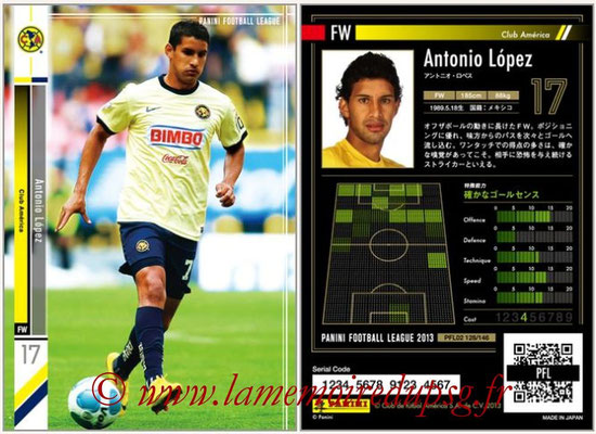 Panini Football League 2013 - PFL02 - N° 128 - Antonio Lopez ( Club America )