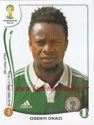 2014 - Panini FIFA World Cup Brazil Stickers - N° 480 - Ogenyi ONAZI (Nigéria)