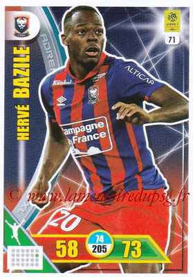 2017-18 - Panini Adrenalyn XL Ligue 1 - N° 071 - Hervé BAZILE (Caen)