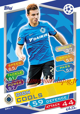2016-17 - Topps UEFA Champions League Match Attax - N° BRU4 - Dion COOLS (Club Brugge KV)