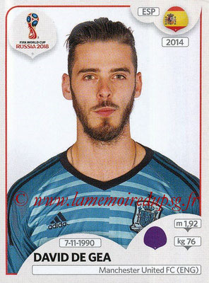2018 - Panini FIFA World Cup Russia Stickers - N° 134 - David DE GEA (Espagne)