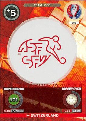 Panini Euro 2016 Cards - N° 388 - Logo de Suisse (Team Logo)
