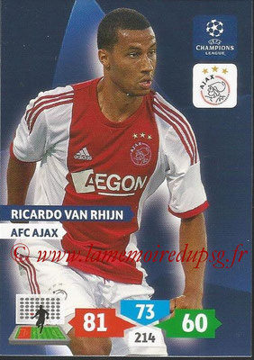 2013-14 - Adrenalyn XL champions League N° 029 - Ricardo VAN RHIJN (AFC Ajax)