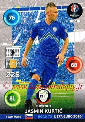 Panini Road to Euro 2016 Cards - N° 184 - Jasmin KURTIC (Slovénie)