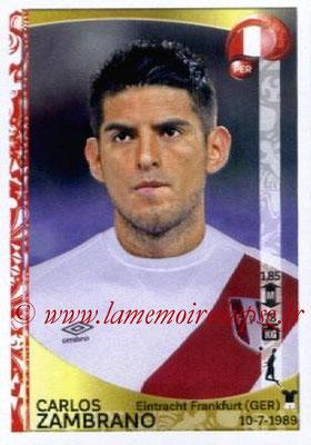 Panini Copa America Centenario USA 2016 Stickers - N° 189 - Carlos ZAMBRANO (Perou)