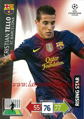 2012-13 - Adrenalyn XL champions League N° 042 - Cristian TELLO (FC Barcelone)