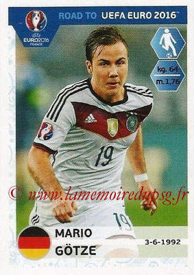 Panini Road to Euro 2016 Stickers - N° 060 - Mario GOTZE (Allemagne)