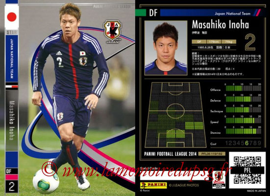 Panini Football League 2014 - PFL06 - N° 119 - Masahiko INOHA (Japon) (Star)