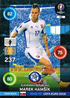Panini Road to Euro 2016 Cards - N° 193 - Marek HAMSIK (République Slovaque)