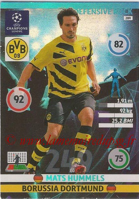 2014-15 - Adrenalyn XL champions League N° 289 - Mats HUMMELS (Borussia Dortmund) (Defensive Rock)