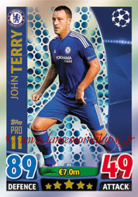2015-16 - Topps UEFA Champions League Match Attax - N° P03 - John TERRY (Chelsea FC) (Pro 11)
