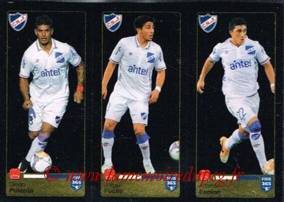 2015-16 - Panini FIFA 365 Stickers - N° 803-804-805 - Diego POLENTA + Jorge FUCILE + Alfonso ESPINO (Club Nacional de Football)