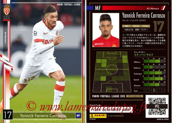 Panini Football League 2015 - PFL12 - N° 061 - Yannick FERREIRA CARRASCO (AS Monaco)