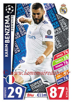 2017-18 - Topps UEFA Champions League Match Attax - N° SS01 - Karim BENZEMA (Real Madrid CF) (Super Strikers)