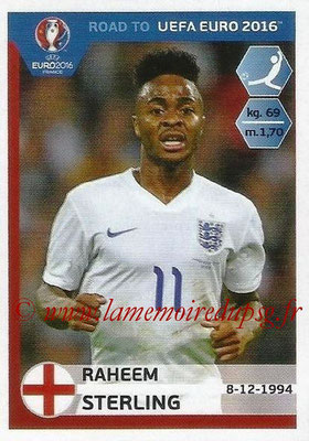 Panini Road to Euro 2016 Stickers - N° 077 - Raheem STERLING (Angleterre)