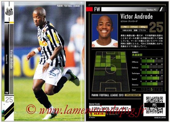 Panini Football League 2013 - PFL02 - N° 080 - Victor Andrade ( Santos FC )