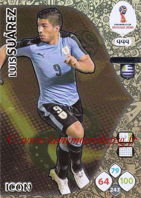 2018 - Panini FIFA World Cup Russia Adrenalyn XL - N° 444 - Luis SUAREZ (Uruguay) (Icon)