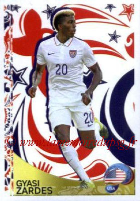 Panini Copa America Centenario USA 2016 Stickers - N° 432 - Gyasi ZARDES (Etats-Unis) (En action)