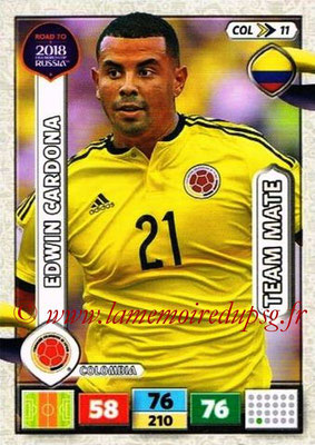 2018 - Panini Road to FIFA World Cup Russia Adrenalyn XL - N° COL11 - Edwin CARDONA (Colombie)