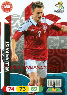 Panini Euro 2012 Cards Adrenalyn XL - N° 020 - William KVIST (Danemark)