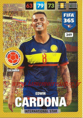 2016-17 - Panini Adrenalyn XL FIFA 365 - N° 349 - Edwin CARDONA (Colombie) (International Star)