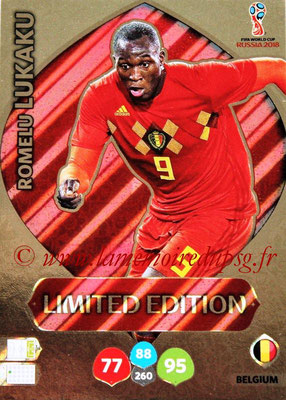 2018 - Panini FIFA World Cup Russia Adrenalyn XL - N° LE-RLU - Romelu LUKAKU (Belgique) (Limited Edition)