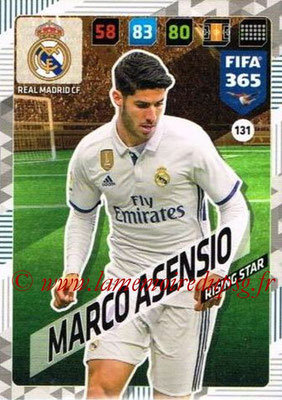 2017-18 - Panini FIFA 365 Cards - N° 131- Marco ASENSIO (Real Madrid CF) (Rising Star)