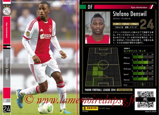 Panini Football League 2014 - PFL06 - N° 107 - Stefano DENSWIL (Ajax Amsterdam)
