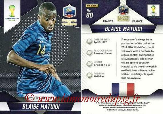 N° 080 - Blaise MATUIDI (2011-??, PSG > 2014, France)