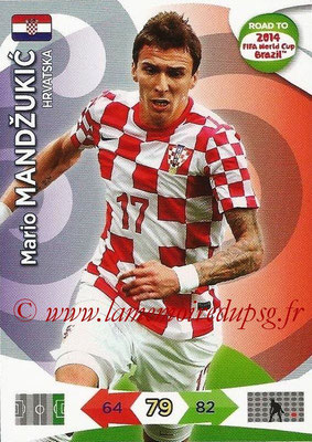 2014 - Panini Road to FIFA World Cup Brazil Adrenalyn XL - N° 108 - Mario MANDZUKIC (Croatie)