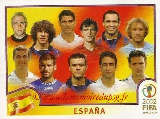 2002 - Panini FIFA World Cup Stickers - N° 097 - Equipe Espagne