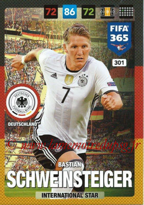 2016-17 - Panini Adrenalyn XL FIFA 365 - N° 301 - Bastian SCHWEINSTEIGER (Allemagne) (International Star)