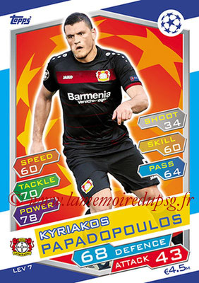 2016-17 - Topps UEFA Champions League Match Attax - N° LEV7 - Kyriakos PAPADOPOULOS (Bayer 04 Leverkusen)