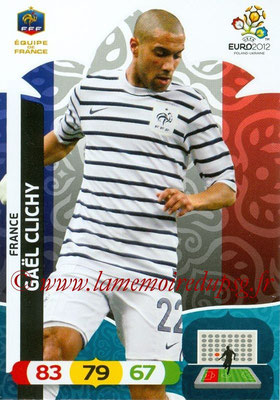 Panini Euro 2012 Cards Adrenalyn XL - N° 077 - Gaël CLICHY (France)