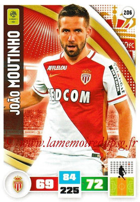 2016-17 - Panini Adrenalyn XL Ligue 1 - N° 206 - Joao MOUTINHO (Monaco)