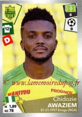 2017-18 - Panini Ligue 1 Stickers - N° 314 - Chidozie AWAZIEM (Nantes)