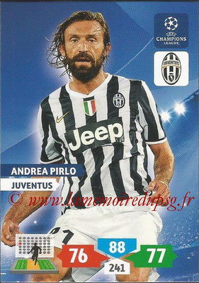 2013-14 - Adrenalyn XL champions League N° 150 - Andrea PIRLO (Juventus FC)
