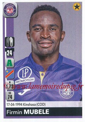 2018-19 - Panini Ligue 1 Stickers - N° 495 - Firmin MUBELE (Toulouse)